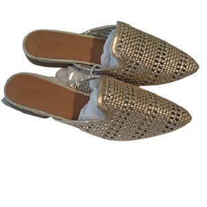 Universal Threads Gold Mesh Mules, Size 9.5
